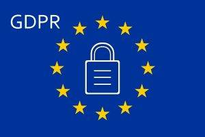 GDPR - EU flag with padlock