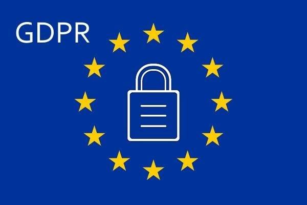 GDPR - EU flag with padlock